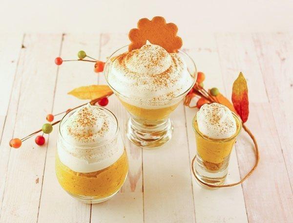 Vegan Pumpkin Cheesecake Mousse / Mousse Vegano de Calabaza